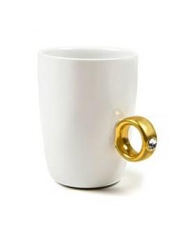 Чашка Бриллиантовое кольцо, Чашка с кольцом, 2 Carat Cup, Чашка 2 карата, , 140грн, Чашка Бриллиантовое кольцо, Чашка с кольцом, , Прикольные кружки