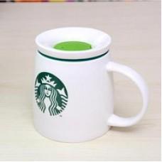 Объемная керамическая чашка с крышкой STARBUCKS