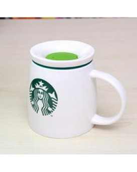 Объемная керамическая чашка с крышкой STARBUCKS, , 250грн, Объемная керамическая чашка с крышкой STARBUCKS, , Прикольные кружки