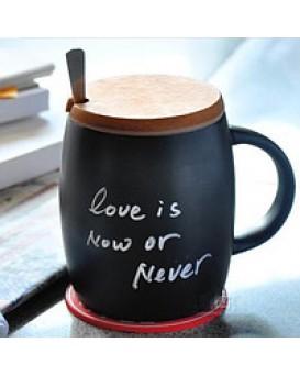 Керамическая чашка с крышкой из пробкового дерева Starbuks, , 160грн, Керамическая чашка с крышкой из пробкового дерева Starbuks, , Прикольные кружки